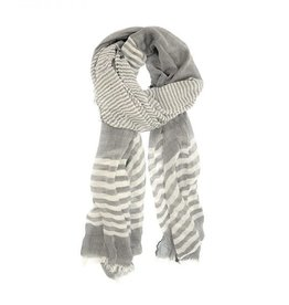 JOY SUSAN WHITE SHEER STRIPE SCARF