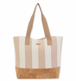 SUN N SAND Cotton/Cork Tote