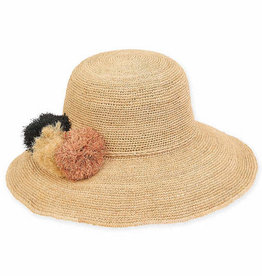 SUN N SAND Raffia Hat HH2297(More Colors Available)