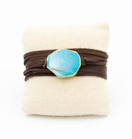 G2G SHOP LEATHER TURQUOISE WRAP