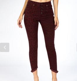 KANCAN Gemma Hi Rise Leopard Jeans