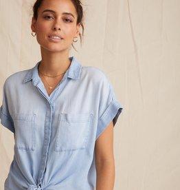 BELLA DAHL SHOP Cap Sleeve Tie Front Shirt