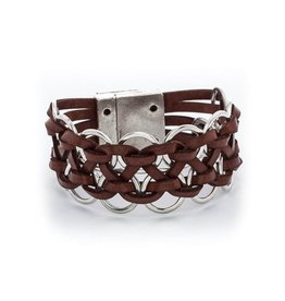 TRADES BY HAIM SHAHAR LEATHER BRACELET MB453A