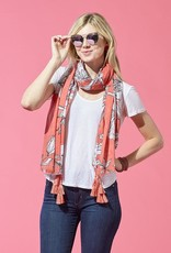 TICKLED PINK DAHLIA SCARF