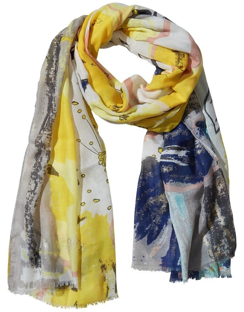 TICKLED PINK GOLDEN SUMMER SCARF