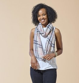 TICKLED PINK Preppy Plaid Scarf(More Colors Available)