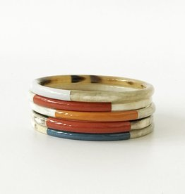SUNSHINE TIENDA Colorful Horn Bangle Set