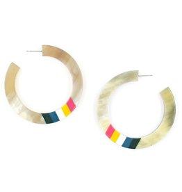 SUNSHINE TIENDA Rainbow Striped Hoop