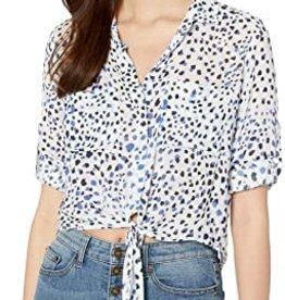 BELLA DAHL Tie Front Pocket Shirt