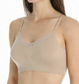 COOBIE V-Neck Lace Trim Bra(More Colors Available)