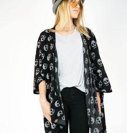 KNITWIT Skulls Kimono Cardi