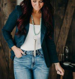 LEVEL 99 Loretta Bracelet Sleeve Blazer