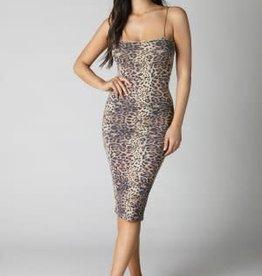 NIKIBIKI Leopard Tube Mini Dress