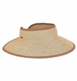 SUN N SAND Paper Braid Roll Up Visor(MoreColors Available)