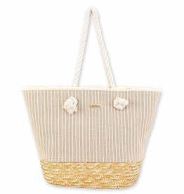 SUN N SAND Wheat Straw Tote