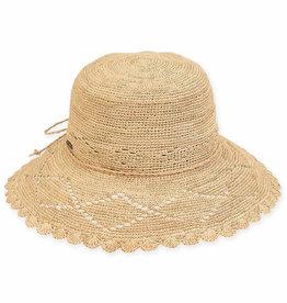 SUN N SAND Wide Brim Raffia Hat HH2301