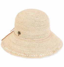 SUN N SAND Wide Brim Raffia Hat