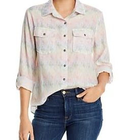 BILLY T STAR BURST TENCEL/LINEN TOP