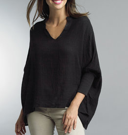TEMPO PARIS VNeck 3/4 Sleeve Linen Top