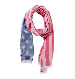 TICKLED PINK American Flag Scarf