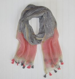 TICKLED PINK Badra Tassels Scarf