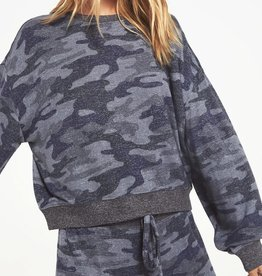 Z SUPPLY SHOP NOA CAMO  MARLED TOP