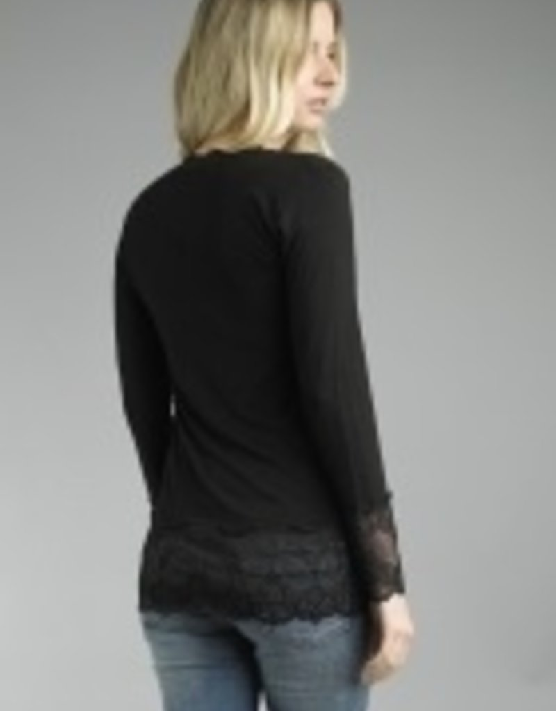 TEMPO PARIS V NECK LACE TOP