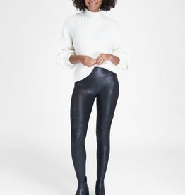 SPANX FAUX LEATHER QUILTED LEGGING