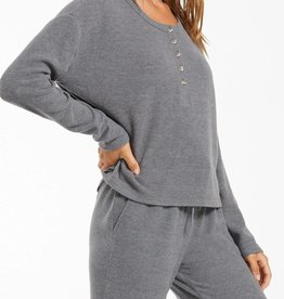 Z SUPPLY SHOP AIMEE HENLEY RIB TOP