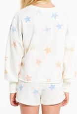Z SUPPLY SHOP GIRLS KIRA STAR SWEATSHIRT ZGT212762