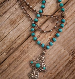 JONAS & MUSE Tibetan Cross Necklace