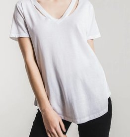Z SUPPLY SHOP The Cut Out V-Neck Tee