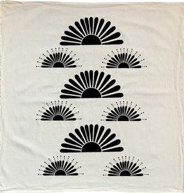 NATIVE BEAR Bright Suns Tea Towel