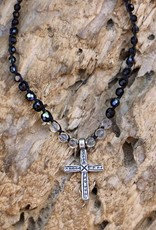 JONAS & MUSE Silver Ethiopian Cross Necklace