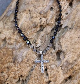 JONAS & MUSE Silver Ethiopian Cross Necklace