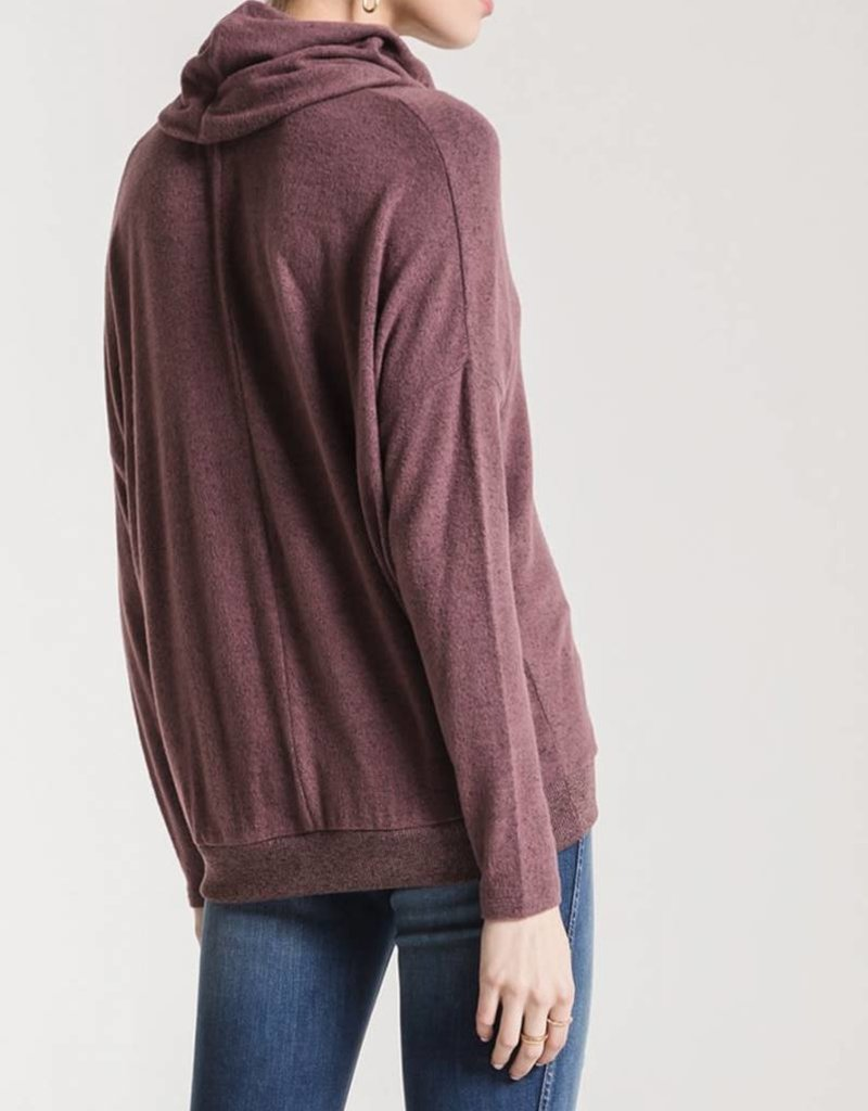Z SUPPLY SHOP The Marled Cowl Neck Sweater
