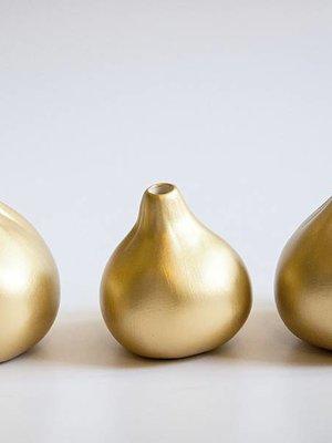 Golden Fig Vases Set of 3