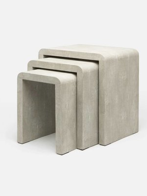 Nesting tables sand shagreen