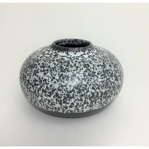 Black Speckle Bud Vase