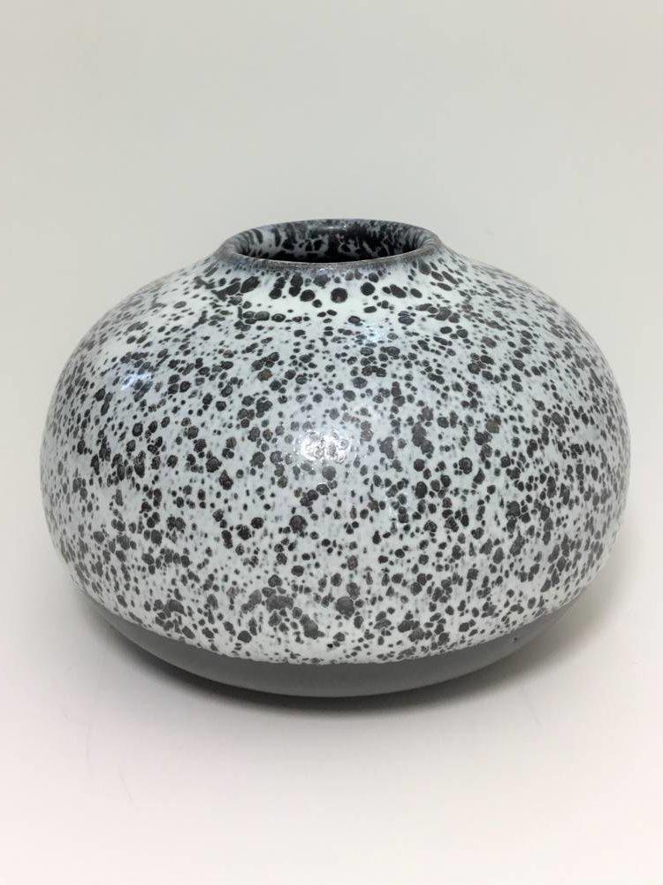 Black Speckle Bud Vase