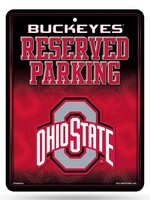 Ohio State Buckeyes Metal Reserved Parking Sign