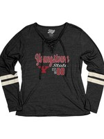 Youngstown State Women's Laceup Long Sleeve Shirt