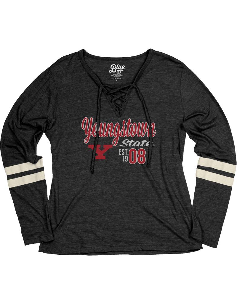 Youngstown State Women's Laceup Long Sleeve Shirt