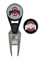 Ohio State Buckeyes CVX Divot Tool and Ball Marker Set
