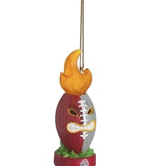 Ohio State Lit Tiki Totem Ornament