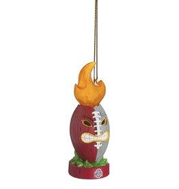 Ohio State Lit Tiki Totem Ornament