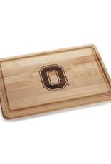Warther Boards 18x12 Ohio State Maple Block O Inlay Cutting Board