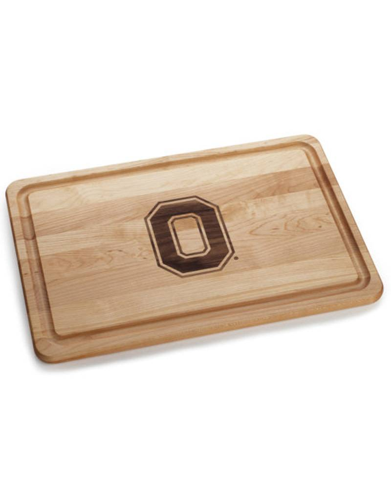 Warther Boards 18x12 Ohio State Maple Block O Inlay Cutting Board