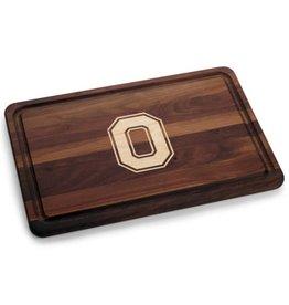 Warther Boards 18x12 Ohio State Walnut Block O Cutting Board