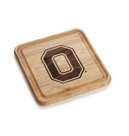 Warther Boards 9x9 Ohio State Maple Block O Cutting Board
